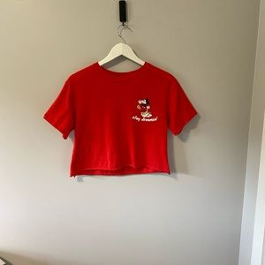 Mickey Mouse Disney Graphic Cropped T-Shirt